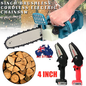 8'' Brushless Cordless Electric Wood Cutter Saw Chainsaw For Makita 18V Battery
