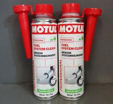 2x MOTUL combustible Sistema Limpiar Gasolina Limpiadores del de 300ml / #