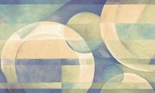 Wallpaper Border Modern Circles with Bright Blue and Green Contemporar Geometric