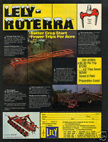 1975 Lely Roterra Farm Tractor Plow Print Ad
