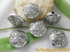 15pcs Tibetan Silver flower spacer beads FC8089