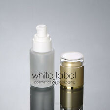20ML FROSTED GLASS COSMETIC PUMP BOTTLES WHOLESALE/GOLD LID- NEW 50PCS/LOT
