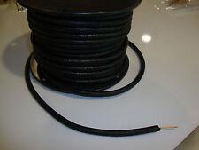 WOVEN SATIN BLACK, MAGNETO SPARK PLUG WIRE 7MM SOLID COPPER CORE