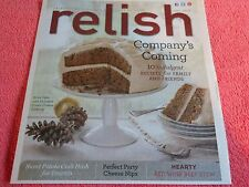 RELISH MAGAZINE DECEMBER 2013 INDULGENT RECIPES SWEET POTATO SPIKE CAKE RED WINE