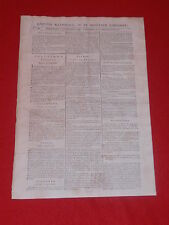 JOURNAL GAZETTE NATIONALE OU LE MONITEUR UNIVERSEL N° 330 DIM 25 NOVEMBRE 1792
