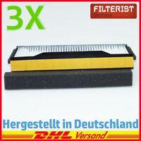 3x Innenraumfilter Mikrofilter Pollenfilter für SAAB 9-5 (YS3E) 1,9-3,0 t TiD