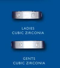 Unisex Modeschmuckstücke mit Cubic Zirkonia-Hauptstein