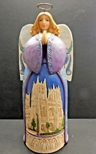 """Jim Shore """"Angels Gather Here"""" Angel with Cathedral Figurine"""