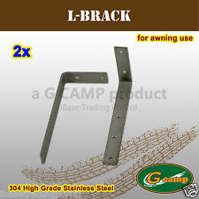 G CAMP L BRACKET AWNING ROOF TOP TENT CAMPER TRAILER 4WD 4X4 CAMPING RACK FREE