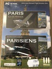 AÉRODROMES PARISIENS + PARIS ÎLE DE FRANCES FLIGHT SIMULATOR 2004 PC NEUF NEW