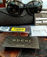 New $425 Gucci-Gg3828F/S-Brown-Hav ana-Mother-Of-Pearl-086Ha Cat-Eye-Sunglass