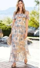 New *Next*(size Uk 10 Petite ) Lovely Floral Could Shoulders Maxi Dress