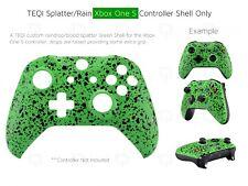 Controlador de Xbox One S Verde Zombie de agua de lluvia Frontal Shell sangre Mod vivienda