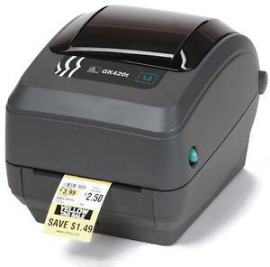 Zebra GK420t Label Thermal Printer USB Ethernet PN: GK42-102220-000