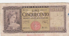 500 LIRE VG BANKNOTE FROM ITALY 1947 PICK-80