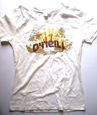 O'NEILL SANTA CRUZ GIRLS SHINY WHITE T-SHIRT KIDS SIZE S SHORT SLEEVE CREW NECK
