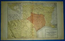 1922 RAILROAD Map ~ TEXAS COMMON POINT TERRITORY SOUTHWESTERN TRAFFIC COMMITTEE