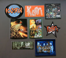 KORN 8-Pack of RARE Stickers NEW OFFICIAL MERCHANDISE Heavy Metal RRP$42.80