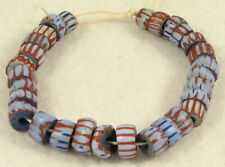 29 Old Antique Venetian AWALE CHEVRON Glass African Trade Beads