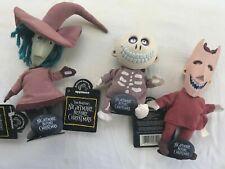 Vintage Nightmare Before Christmas Lock, Shock & Barrel Bean Bag Dolls Applause