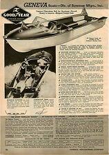 1957 PAPER AD Geneva Fiberglass Hull By Goodyear Outboard Fishing Boat Nassau