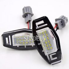 New 2Pcs 18-SMD LED Number-Plate Light For Acura TSX 2004-2014 2005 2006 2007