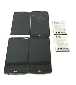 Lot of 4x LG G3 16GB Verizon Smartphone Black White; NTS 678528