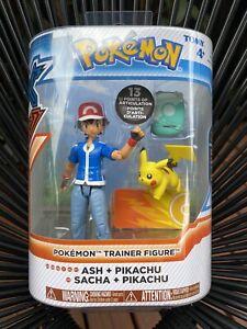 Pokemon XY Ash And Pikachu Action Figure - SEALED! Pokémon Trainer Toy Doll