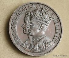 1937 CORONATION BRONZED SOFT METAL MEDAL GEORGE V1  aUNCIRCULATED #FNA80