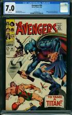 Avengers #50 CGC 7.0 -- 1968 -- Zeus. Hercules. #2009855020