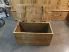 RECLAIMED BLANKET BOX HAND MADE RUSTIC BESPOKE SIZES - CHOICE OF COLOURS