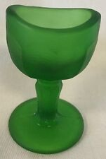 Eyebath Eyewash Eyecup Eye Rinse - John Bull - Green Satin Frosted Glass - USA
