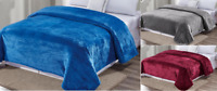 Luxury™ Velvet Plush Solid Bed Blanket Warm Fleece Microfiber Bed Throw Blanket