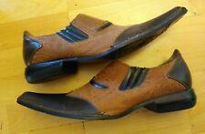 BRAVO Loafer Boots Men's Size 11 Two Tone Slip On EUC