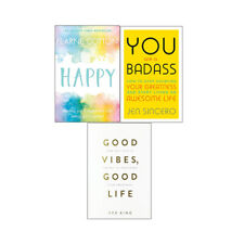 Good Vibes Good Life Happy You Are a Badass 3 Books Collections Set Paperback