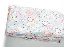 Pottery Barn Kids Discontinued Twin Duvet Bedding Comforter Pink Blue Paisley