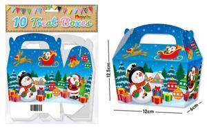 20 Christmas Blue Party Treat Boxes / Girls Boys Sweet Chocolate MINI Box Bag