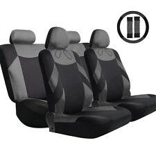 Gray Universal D0E7 Tirol New Car Front Rear Seat Cover For SUV Sedan Black