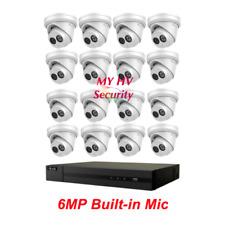 Hikvision HiLook 3,4,6,8,12,16 IPC-T260H-MU 6MP Built in Mic Audio NVR Kit AUS