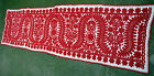 """Antique Traditional Hungarian/Transylvanian Embroidery Tablecloth  66.9""""x17.32"""""""