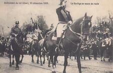 FOREIGN ROYALTY :1909 BELGIUM-Accession of KIng Albert -Le Cortege en cours..