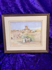WATER COLOUR PAINTING SIGNED WILLIAM RUSSELL FLINT MIDDLE EASTERN ARABIC