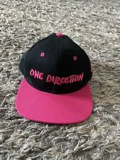 One Direction Hat Adjustable Snapback Black Hot Pink Embroidered Diamond. NEW