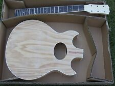 NEW DOUBLE CUT A WAY ACOUSTIC GUITAR DIY BUILDER KIT