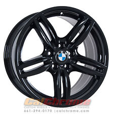"Set of 4 Black 19"" BMW 528i 535i 550i M5 640i 650i OEM Wheels Rims 71414 71418"