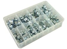 Assorted Box of Mini Hose Clips 7-9mm-15-17mm Qty 110 Clamps Jubilee Hose Clip