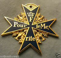 World War I German Medal F Pour le Mérite II Prussia Blue Max Gold Old Replica
