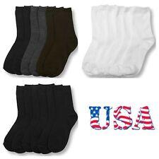 Kids Girl Boy Women Socks Lot Crew Ankle Toddler 0-12 4-6 6-8 9-11 Unisex Socks