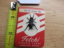 New listing Vintage Fetch 523 Black Cricket fly fishing lure c.1950s (lot#12805)