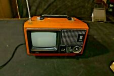 Retro TV JVC Yellow 5 Portable TV Made In Japan Model 3040CQ Television